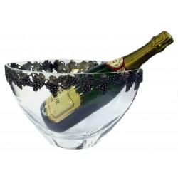 Seau à champagne avec guirlande raisin