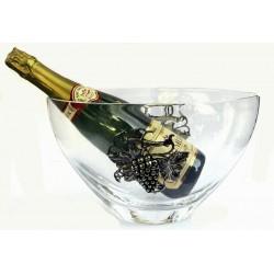 Seau à champagne avec décor raisin