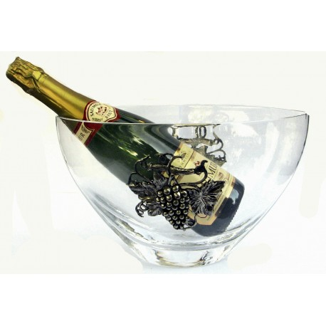 Champagne bucket with grape decor