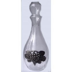 Serving decanter with pewter grape decor