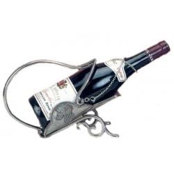 Porte bouteille fantaisie décor raisin