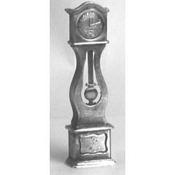 Pewter miniature clock