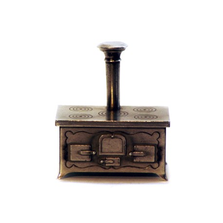 Miniature wood burning stove