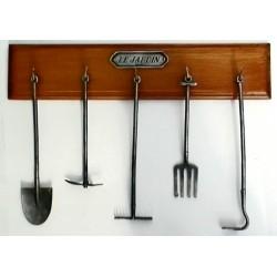Set of miniature gardening tools