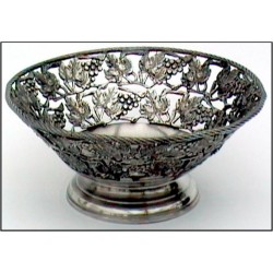 Openworked bowl with grape decor