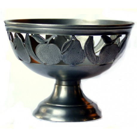 Large openworked bowl with fruit decor