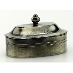 Boîte ovale en étain