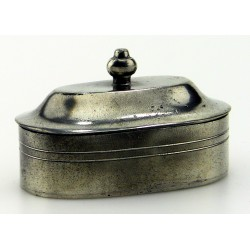 Pewter oval box
