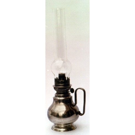 Pewter oil lamp