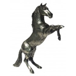 Pewter miniature rearing horse