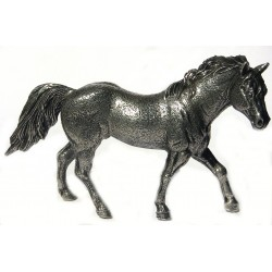 Pewter miniature walking horse