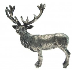 Pewter miniature stag