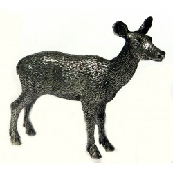 Pewter miniature doe