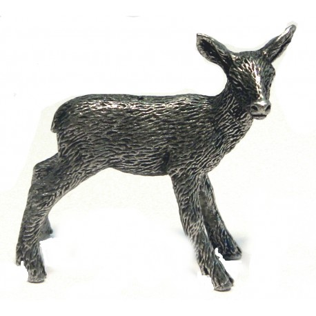 Pewter miniature fawn