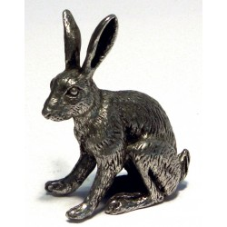 Pewter miniature hare