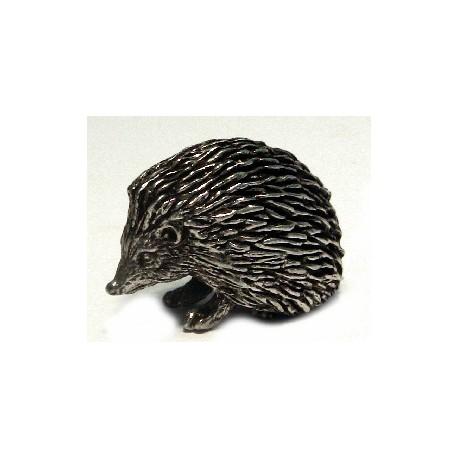 Pewter miniature hedgehog