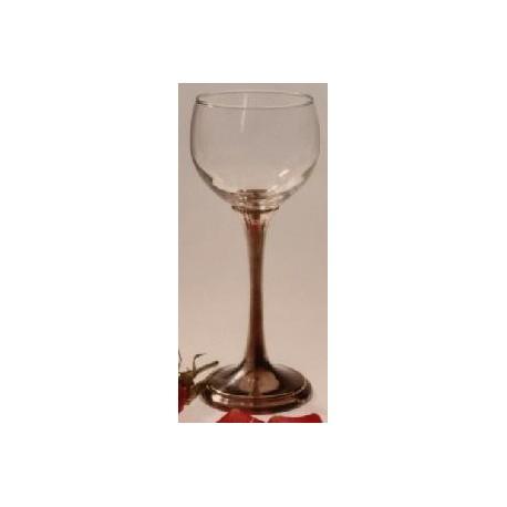Verre à vin blanc avec pied