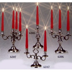 Two flames pewter candlestick