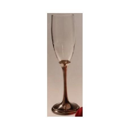 Flûte à champagne avec pied
