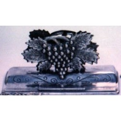 Pewter grape letter and pencil rack