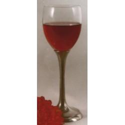 Verre à vin rouge avec pied