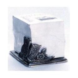 Pewter owl paper holder
