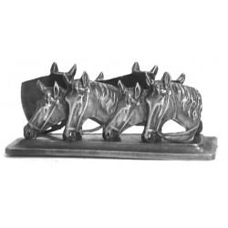 Pewter horse letter rack