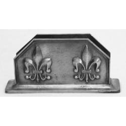 Pewter fleur-de-lis letter rack
