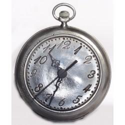 Plain pewter clock