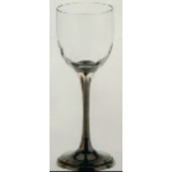 Water glass with pewter stem