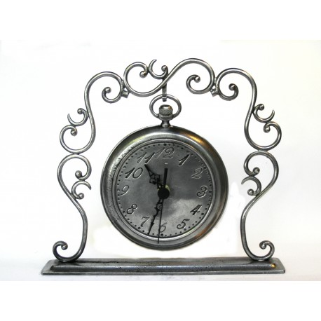 Pewter clock support