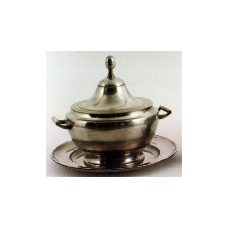 Pewter soup tureen