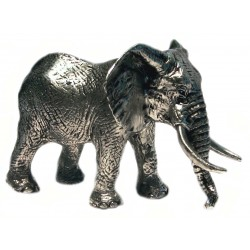 Pewter miniature elephant