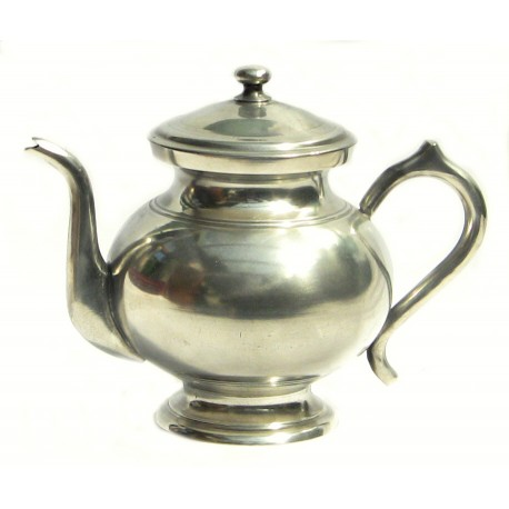 Pewter tea pot