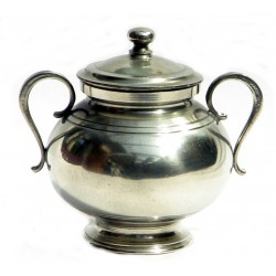 Pewter sugar bowl