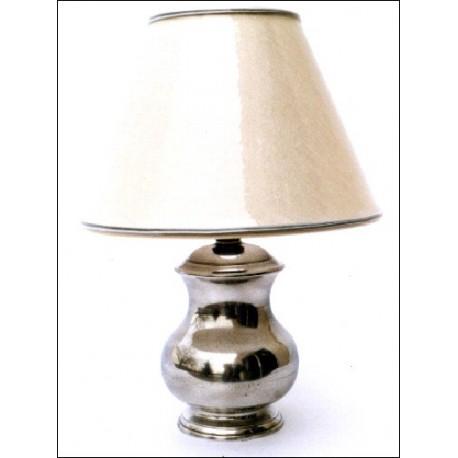 Lampe électrique en étain