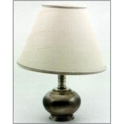 Pewter electric lamp