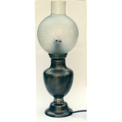 Pewter electric lamp