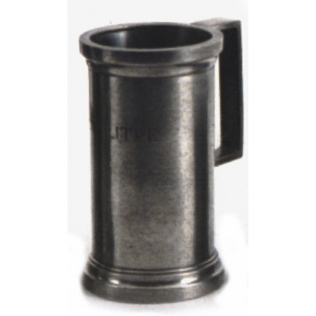 "Pewter normalised measuring jug ""Half Liter"""