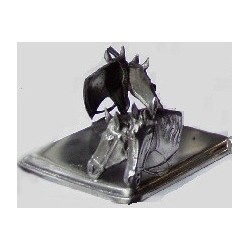 Paper holder with horse decor