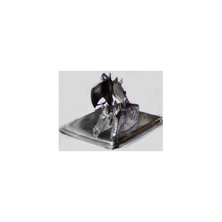Pewter paper holder with horse decor