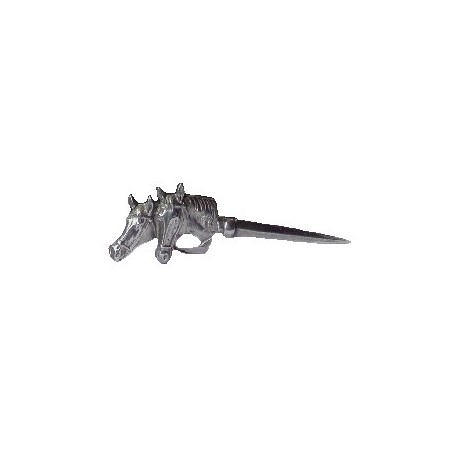 Pewter letter opener with horse decor