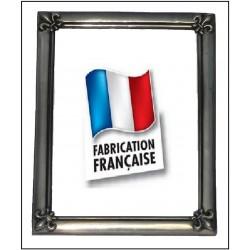 Pewter medium photo frame with fleur-de-lis decor