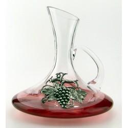Carafe à décanter avec décor raisin en étain