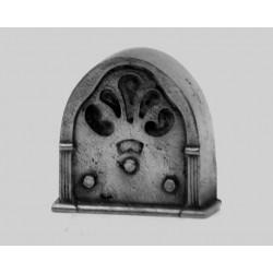 Pewter miniature radio