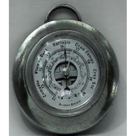 Pewter barometer