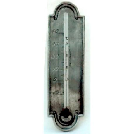 Thermomètre en étain sans applique
