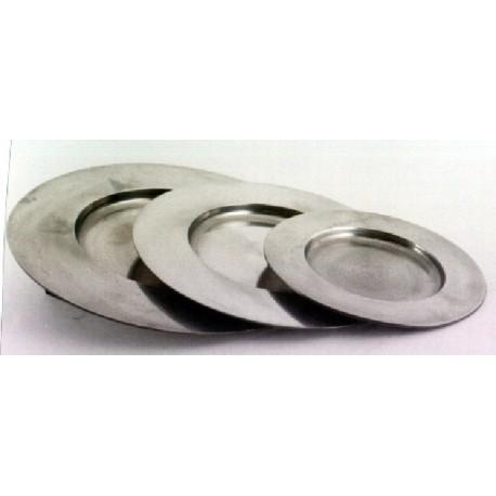 Pewter plate diam. 32cm