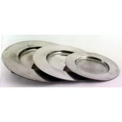 Pewter plate diam. 27cm