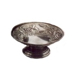 Small pewter fruit bowl